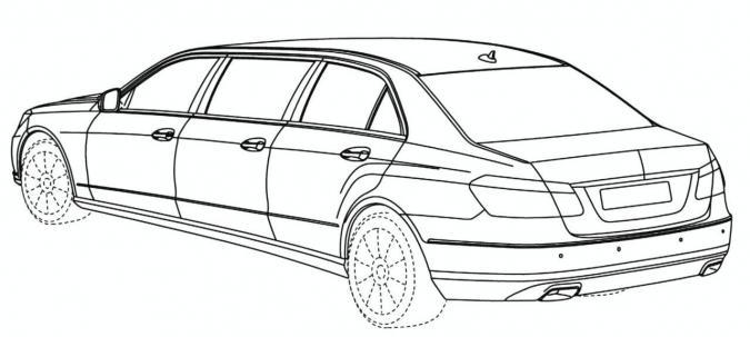 Mercedes e klasse limousine schetsen autofans - Dessin voiture mercedes ...
