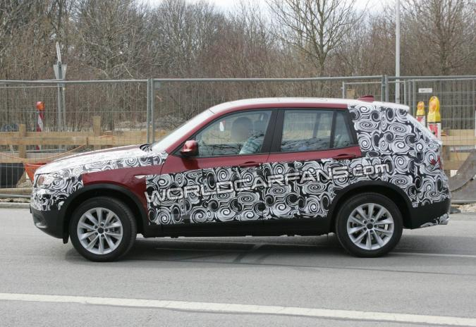 spyshots nieuwe bmw x3 net iets minder verhuld autofans. Black Bedroom Furniture Sets. Home Design Ideas