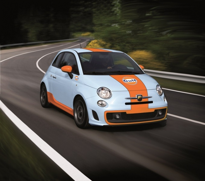 luxemburg only: Abarth 500 GULF special Edition