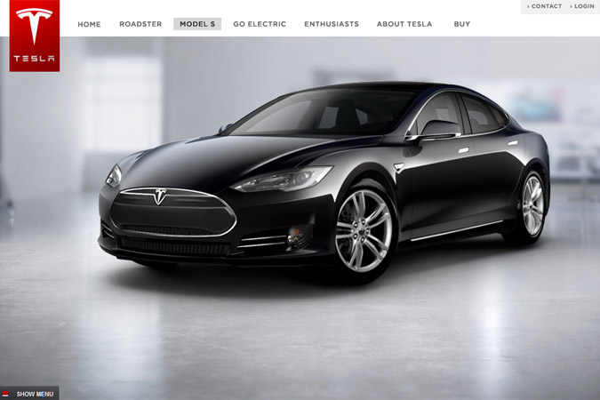 Configureer je Tesla Model S