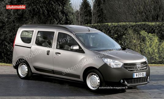 dacia dokker wordt bedrijfswagenversie van de lodgy autofans. Black Bedroom Furniture Sets. Home Design Ideas