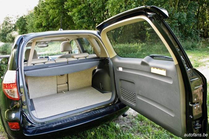 Toyota rav4 kofferruimte