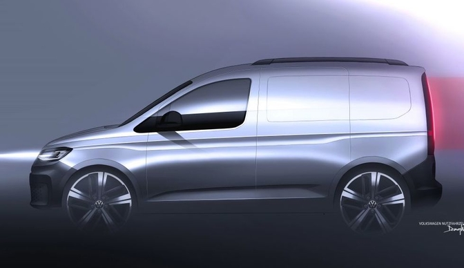 vw caddy 2020 sketch