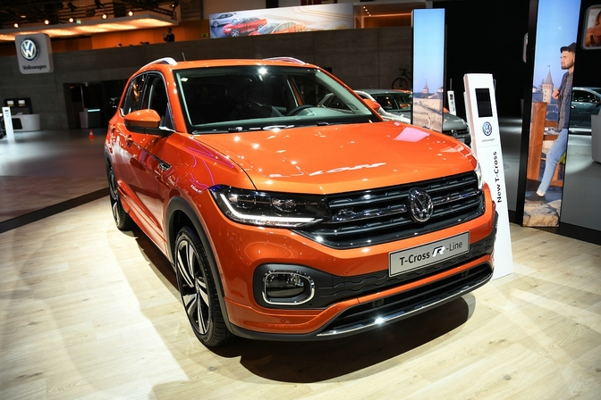volkswagen t-cross suv autosalon brussel 2019