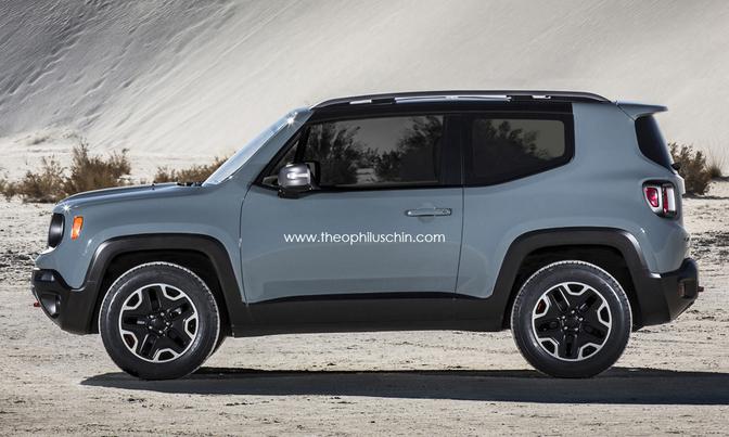 Jeep renegade als driedeurs autofans for Interieur jeep renegade