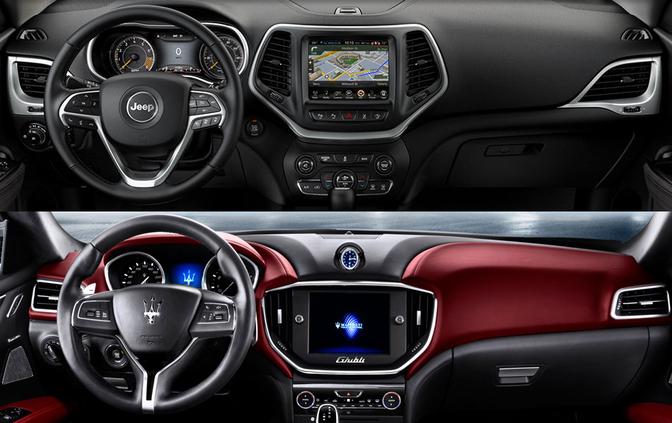 Maserati jeep interior
