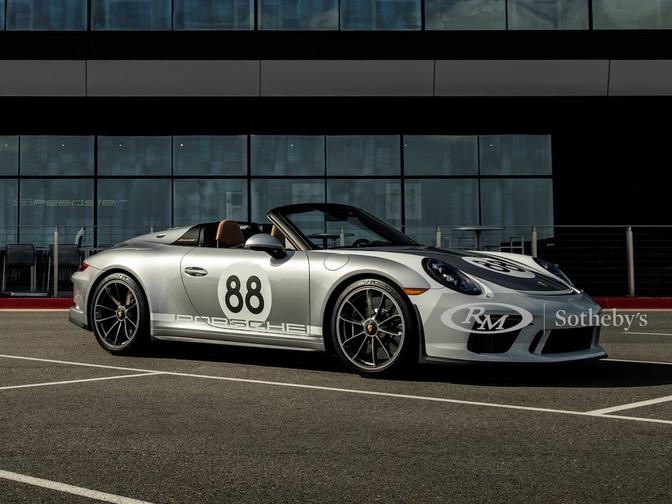 Porsche 911 Speedster 991 veiling RM Sotheby's