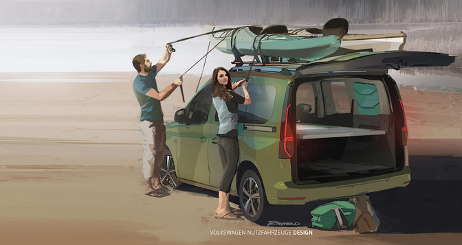 Volkswagen Caddy Beach camper 2020