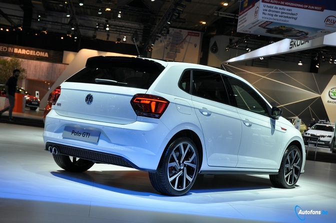 Volkswagen Polo Gti Is Witheet Brussel 2018 Autofans