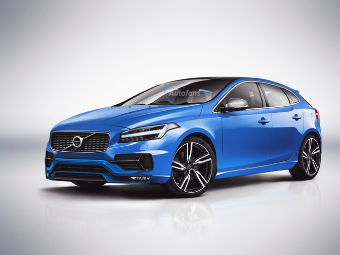 volvo v40 facelift render autofans. Black Bedroom Furniture Sets. Home Design Ideas