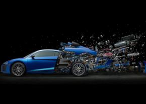 Audi R8 Exploding Art