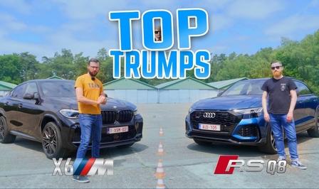 BMW X6 M Competition Audi RS Q8 geluid acceleratie prijs video Autofans