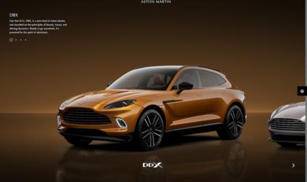 Aston Martin configurator 2021
