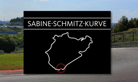 Sabine Schmitz Kurve Nurburgring