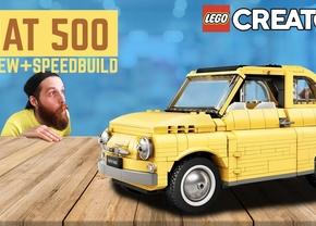 Speedbuild Lego Fiat 500 Creator Expert Autofans
