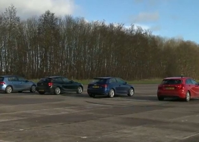 Audi a3 1.6 TDI vs Mercedes A-Klasse 180 CDI vs VW Golf 7 2.0 TDI vs BMW 1 reeks 18d