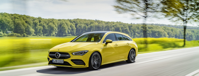 Mercedes-AMG CLA 35 Shooting Brake 2020 test