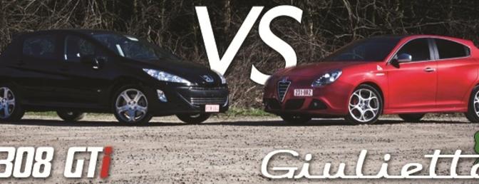 Alfa Romeo Guilietta QV vs Peugeot 308 GTI (rijtest)