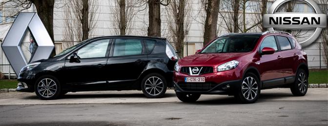 Rijtest: Nissan Qashqai 1.6 dCi Energy vs. Renault Scenic 1.5 dCi Energy