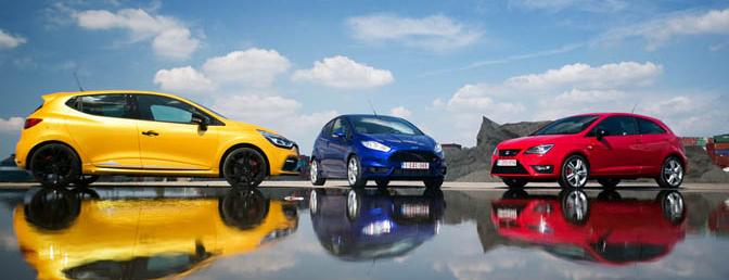 Rijtest: Ford Fiesta ST, Renault Clio R.S. & Seat Ibiza Cupra